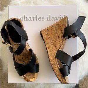 Black Charles David Sandals
